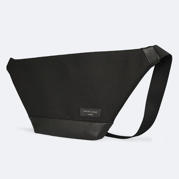 The picture shows the front of Fanny Pack Rohrbacher in color Black