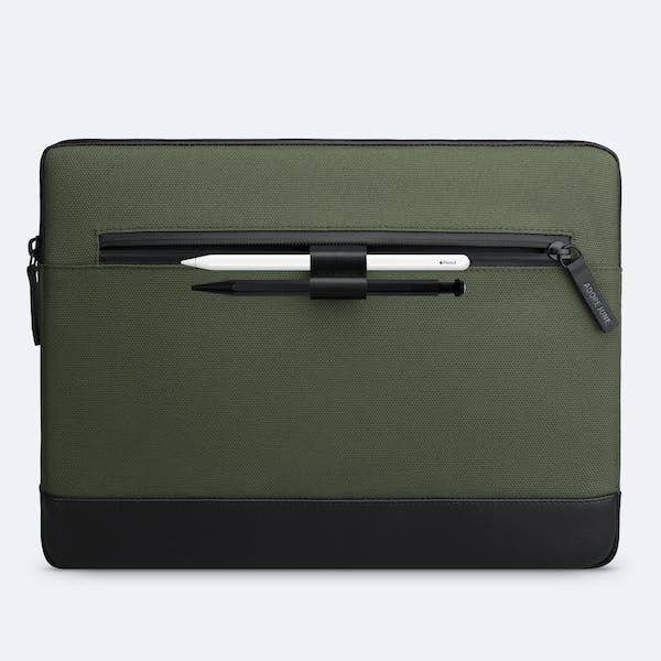 Image 2 of Adore June 13.3 Inch MacBook Case Bent for Apple MacBook Air 13 and MacBook Pro 13 Color Olive-Green
