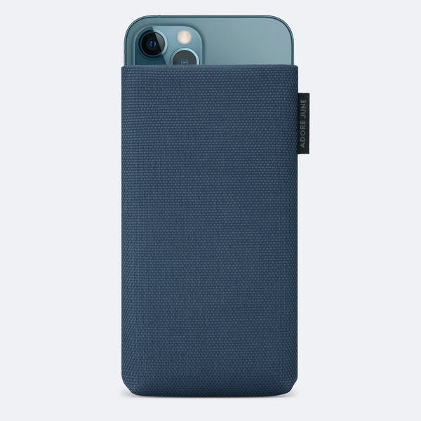 Image 1 of Adore June Classic Recycled 6.7 Inch Sleeve for Apple iPhone 12 Pro Max Color Blue