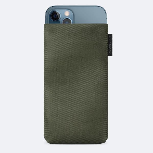 Bild 1 von Adore June Classic Recycled 5,4 Zoll Premium Handytasche für Apple iPhone 12 mini in Farbe Oliv-Grün