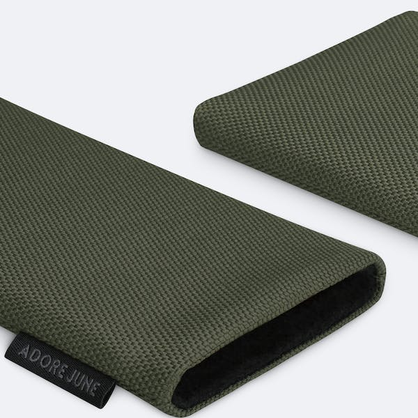 Image 5 of Adore June Classic Recycled 5.4 Inch Sleeve for Apple iPhone 12 mini Color Olive-Green