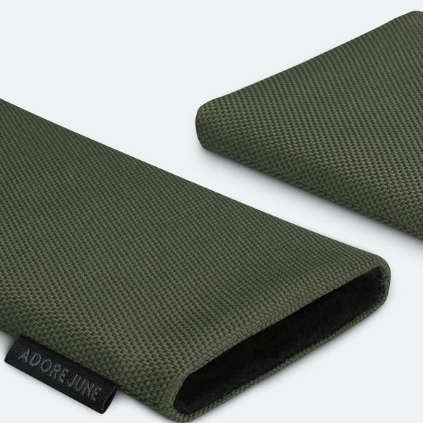 Image 5 of Adore June Classic Recycled Sleeve for Apple iPhone 12 mini Color Olive-Green
