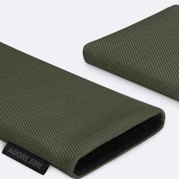 Bild 5 von Adore June Classic Recycled 5,4 Zoll Premium Handytasche für Apple iPhone 12 mini in Farbe Oliv-Grün