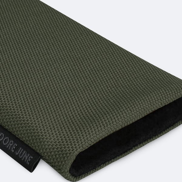 Image 7 of Adore June Classic Recycled Sleeve for Apple iPhone 12 mini Color Olive-Green