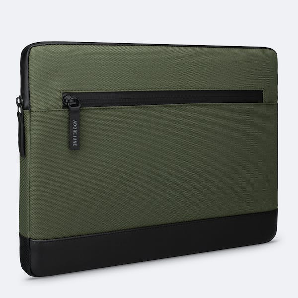 Image 1 of Adore June Bent Premium Sleeve for Apple iPad Pro 11 and iPad Air 10.9 2020 Color Olive-Green