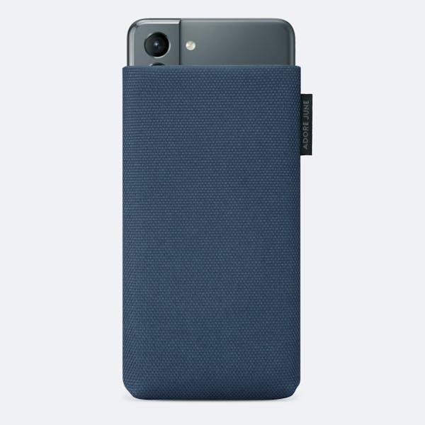 Bild 1 von Adore June Classic Recycled 6,2 Zoll Premium Handytasche für Samsung Galaxy S21 in Farbe Blau