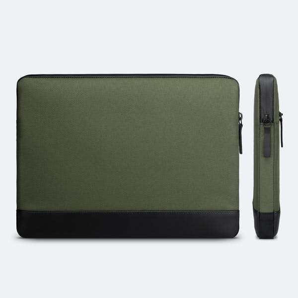 Image 6 of Adore June 13.3 Inch Premium Sleeve for Dell XPS 13 Laptop Bent Color Olive-Green