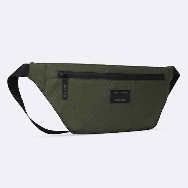 Bild 2 von Adore June Bent Hip-Bag in Farbe Oliv-Grün