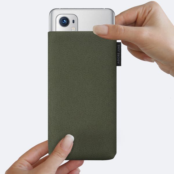 Image 4 of Adore June Classic Recycled Sleeve for OnePlus 9 Pro Color Olive-Green