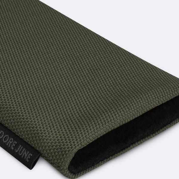 Image 7 of Adore June Classic Recycled Sleeve for OnePlus 9 Pro Color Olive-Green